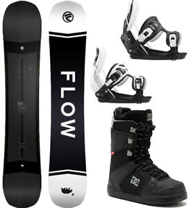 2021 FLOW Gap 162 WIDE Mens Snowboard Package+Flow Bindings+DC Phase Boots NEW