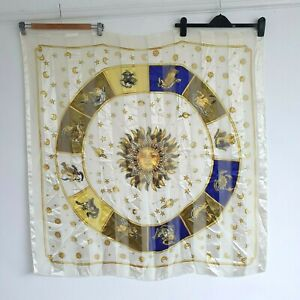 Vintage Horoscope Star Signs Boho Wall Hanging Tapestry Silky Zodiac Astrology