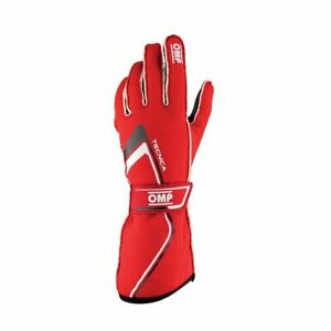 OMP Racing Race & Kart Gloves TECNICA (FIA Approved) IB/772 red - size S
