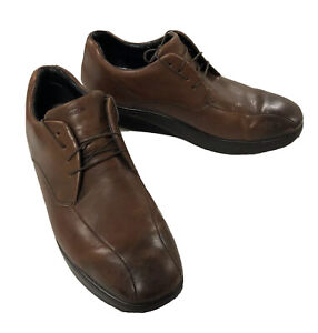 MBT Hommes Bosi Oxford Marron Cuir Orthopédique Rockeur Tonifiant Chaussures 11