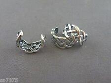 Braid ear cuff earcuff clip wrap genuine .925 sterling silver