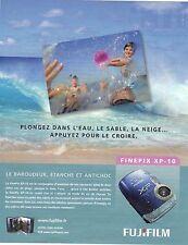 PUBLICITE ADVERTISING 2010  FUJI FILM Finepix XP-10