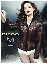 PUBLICITE ADVERTISING  2010   DIEGO M  haute couture collection blouson cuir