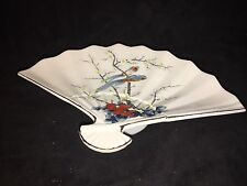 JAY Fine China Fan Serving Dish from Japan