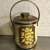 VTG Murray Allen Candy Cookie Biscuit Tin Honeysuckle Made England Gold Brown
