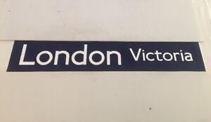 """London Commercial Bus Destination Blind 42"""" -  London Victoria - Navy"""