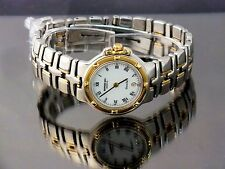 Raymond Weil Watch Ladies Parsifal 18k Solid Gold Bezel Stainless Steel Two Tone