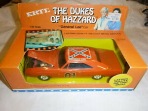 A Vintage ERTL scale model of The Dukes of Hazzard GENERAL LEE, Dodge charger