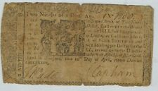 Maryland April 10, 1774 Colonial Currency $2/9 (4s/6d) Scarce
