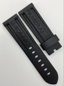 Authentic Officine Panerai 24mm x 22mm Black Rubber Watch Strap Band OEM