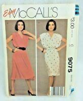 Vintage Sewing Pattern Dress 1980s Easy McCalls Sz 18 20 Bust 40 42 Uncut P30