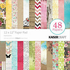 Pretty Expressions 12x12 Scrapbooking Paper Pad 48 Sheet Kaisercraft PP213 NEW