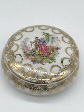 Vintage Limoges Porcelain France Trinket Box Jewelry With Lid