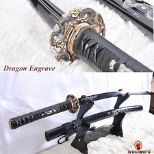 FULL TANG FOLDED STEEL CLAY TEMPERED JAPANESE SAMURAI SWORD KATANA SHARP BLADE