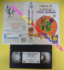 VHS film WILE E. COYOTE & ROAD RUNNER 1 animazione WARNER SCUDI (F105**) no dvd