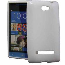 Rubber Case X-Design für HTC Windows Phone 8S in weiß Silikon Handy Tasche Hülle