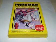 POGOMAN by COMPUTER MAGIC (1982) ATARI COMPUTER V.RARE LIKE THIS NEW OLD STOCK!