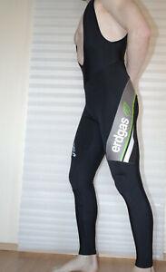 Scott Asics Erdgas Men's Bib Cycling Pants Thermal Tights Unpadded Size Large
