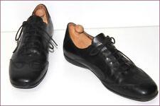 PIERRE CARDIN Sneakers à Lacets Cuir Noir T 41 TBE