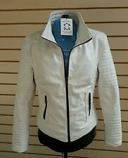 Ladies Leather  jacket  fashion biker white soft nappa leather