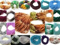 "Natural AAA+ Gemstone Faceted Rondelle Beads,13"" Long Strand,3.5 to 4 mm"