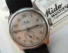 All S/S Vintage 1950's Men's Mido Multifort Super Automatic Swiss Watch Runs