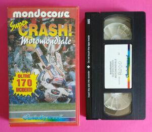 VHS Film Ita Sportivo SUPER CRASH MOTOMONDIALE Cinehollywood Mondocorse (V220)