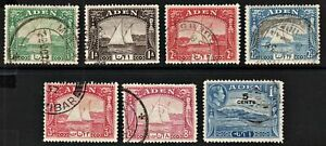 2123 ADEN: SG1/8 Part Set of 6 to 8a. 1937. Fine Used. c£46.50