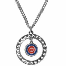 Chicago Cubs Rhinestone Necklace MLB Licensed Baseball Jewelry