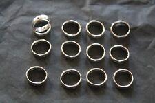 pour fabrication bijoux: anneaux plats, percés, ouverts 3 modèles  lot