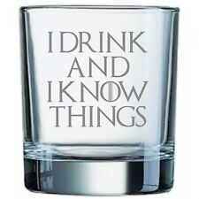 """Game of Thrones Inspired """"I Drink and I Know Things"""" Whisky Tumbler Glass"""