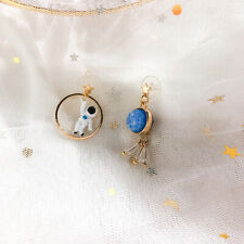 Asymmetric Girls Earring Planet Series Astronaut Moon Earring Party Ear jewelry