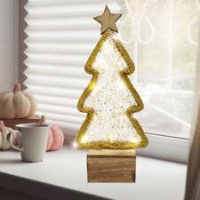 Bois Arbre de noël Lampe de table 10x LED éclairage Rester immobile lampe or