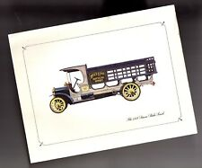 Vintage 1918 SAURER Stake Beer Truck Lithograph ? Print ? Painting from 1960?s