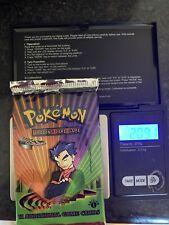 Pokemon 1st Edition Sealed Gym Challenge Pokemon Booster Pack. Koga