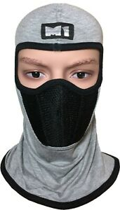 M1 Full Face Cover Balaclava Protection Cycling Bike Warm Filter Mask Plain Grey