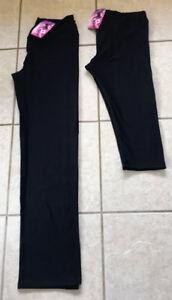 BLU FIT BLACK RUNNING YOGA PILATES GYM FITNESS PANTS SIZE L / XL