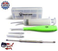 TONSIL LIGHT (Green) Tonsil Stone Remover Kit + Irrigation Syringe +Premium Tool
