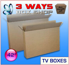 10x 42inch LCD/Plasma TV Picture Cardboard Removal Boxes - Double Flap
