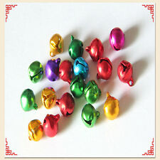 100X Christmas Jingle Bells Colorful Iron Beads Pendants Jewelry Findings Crafts