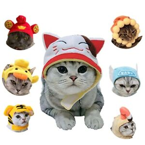 Funny Hat for Cat Sunflower Dress Up Costume Pet Hat Cosplay Animal Keep Warm