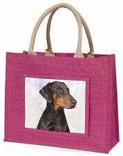 Doberman Pinscher Dog Large Pink Shopping Bag Christmas Present Idea, AD-DM1BLP