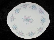 """COLCLOUGH Cake Plate Ridgway Potteries """"COPPELIA"""" 8378 Pink/Blue Floral"""