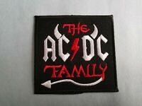 THE AC/DC FAMILY MUSIC PATCH: SEW or IRON ON: POP PUNK ROCK HEAVY METAL