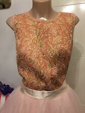 Dolce & Gabbana Metallic Chiffon Trimmed Jacquard Top Size IT40 RRP$1250