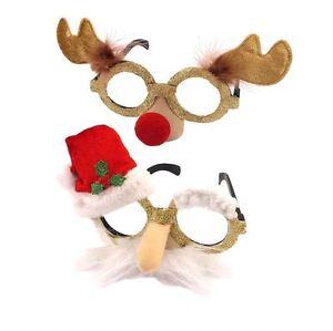 Adult Christmas Xmas Party Fun Novelty Santa Reindeer Glasses Fancy Dress