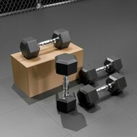30lbs 50lbs Hex Rubber Dumbbell with Metal Handle,Home Workout Equipment,for Strength Training Weight Loss 5lbs Workout Bench LLYWEY Weights Dumbbells Set 10lbs Gym Equipment 20lbs