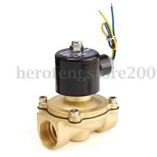DC 12V G 1''  Electric Solenoid Valve Brass Close/Open For Air Water Oil Fuels