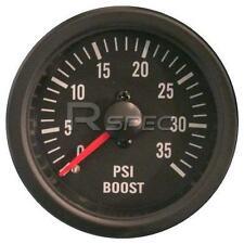Negro 52mm coche diesel Boost Gauge 0-35 Psi Lente Claro