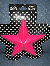 Justice Jumbo Star Eraser Be You/Unique/Smile/ Smart/Be Happy Pink Positive Mess